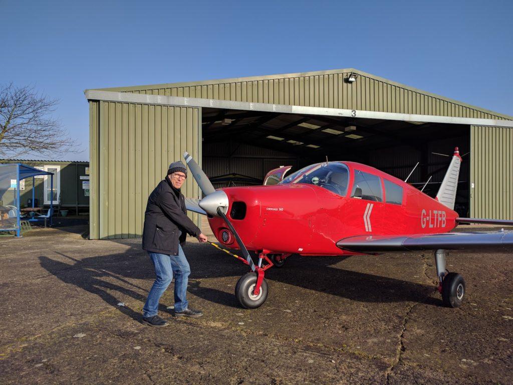 G-LTFB outside Strubby hangar 3