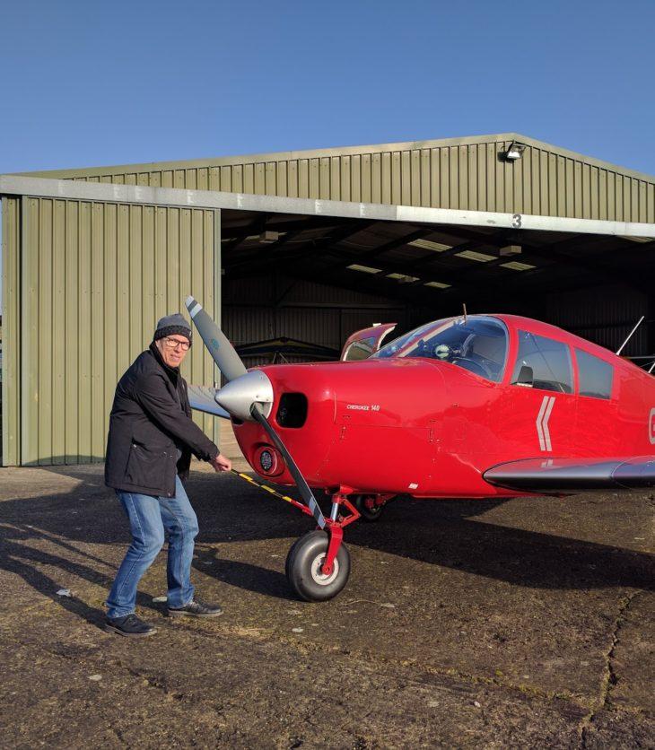 G-LTFB outside Strubby hangar 1