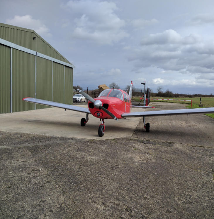 G-LTFB refuelled hangar 1 Strubby airfield
