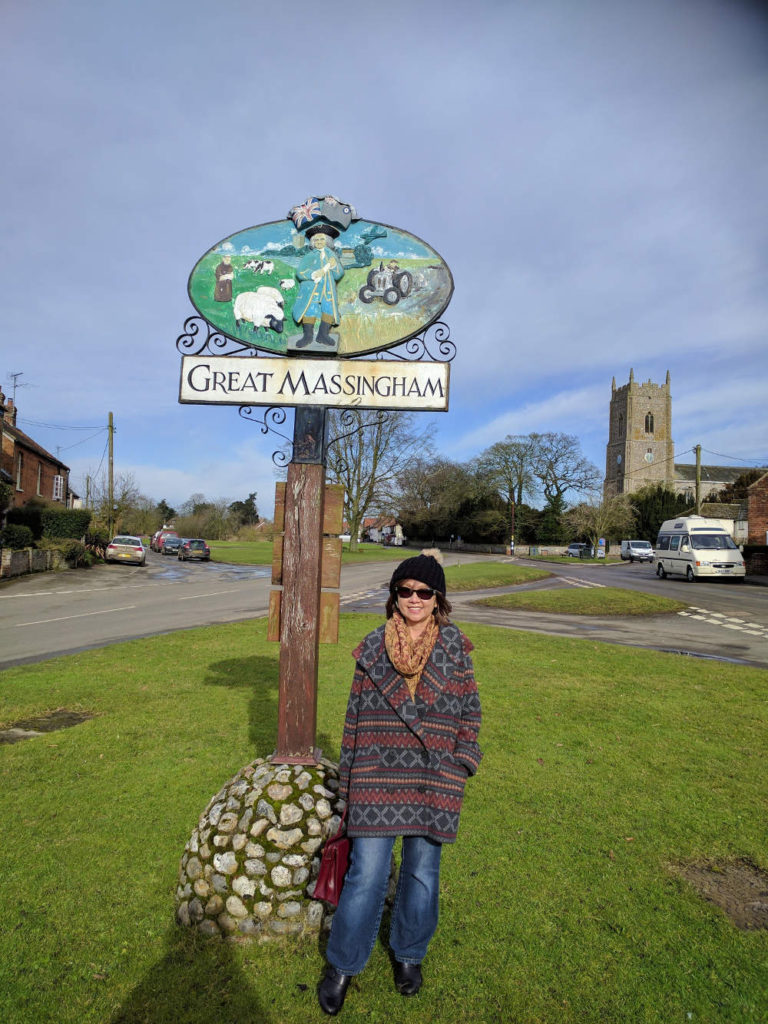 Meow poses in Great Massingham