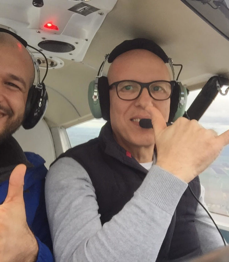 Fereday father and son flying in G-LTFB