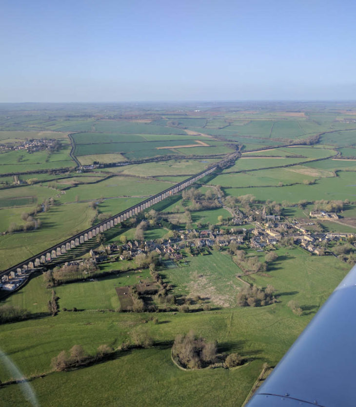 G-LTFB overhead Harringworth and Welland Viaduct