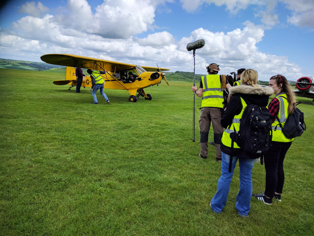 Channel 4 filming at Compton Abbas