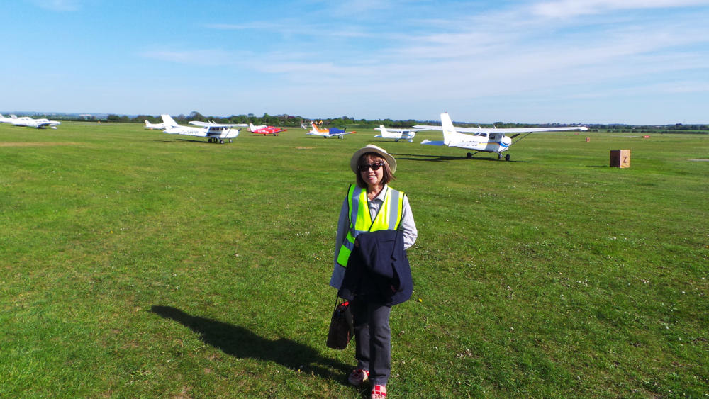 G-LTFB Cambridge Airport parking