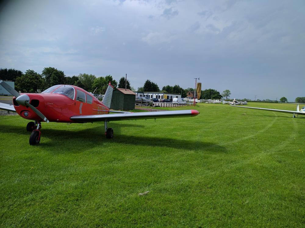 G-LTFB parked at York Rufforth
