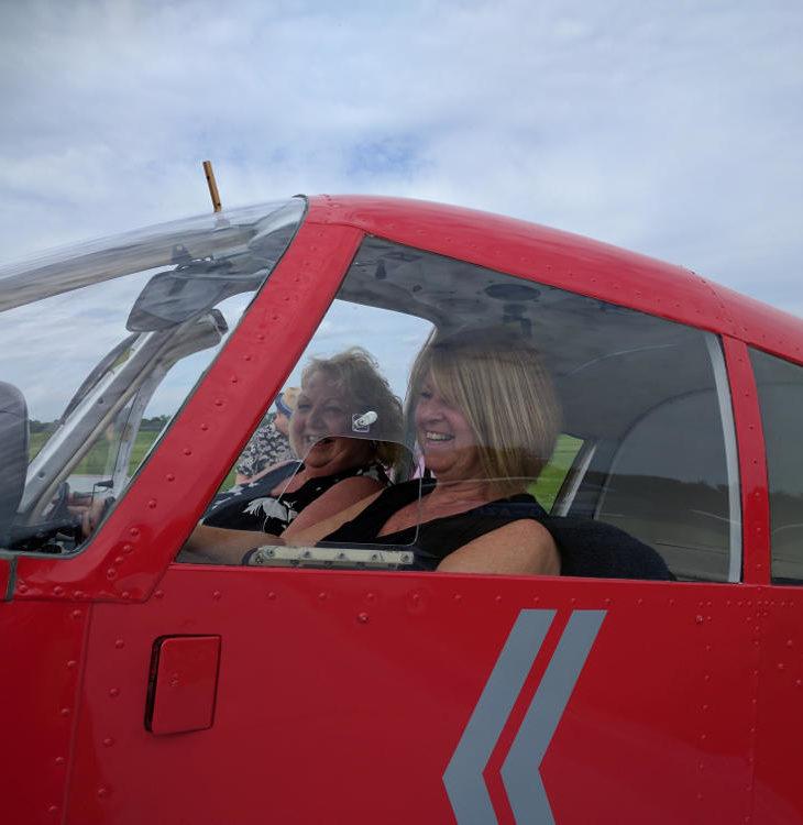 Irene pilots G-TFB