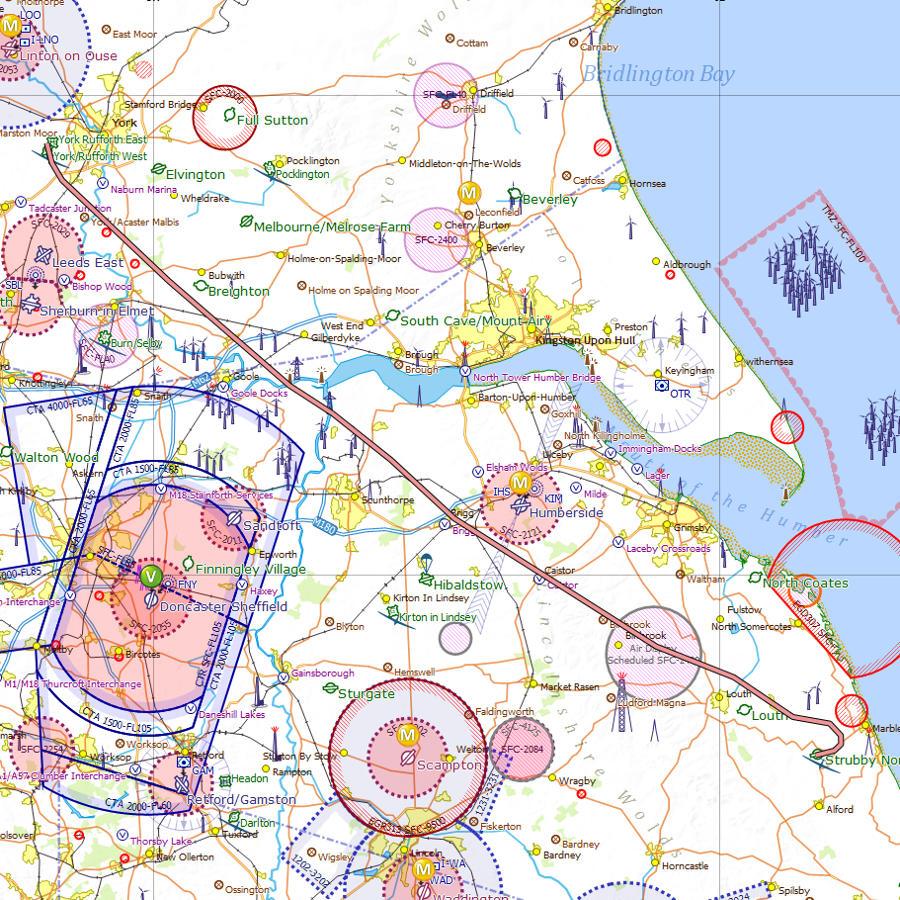 York Rufforth to Strubby flight log