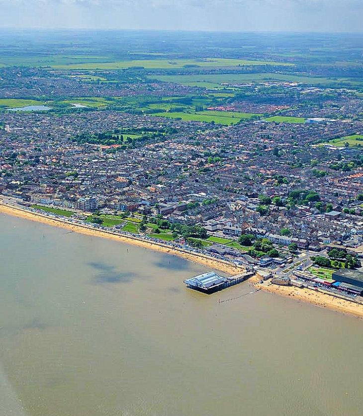 Cleethorpes pier and beach