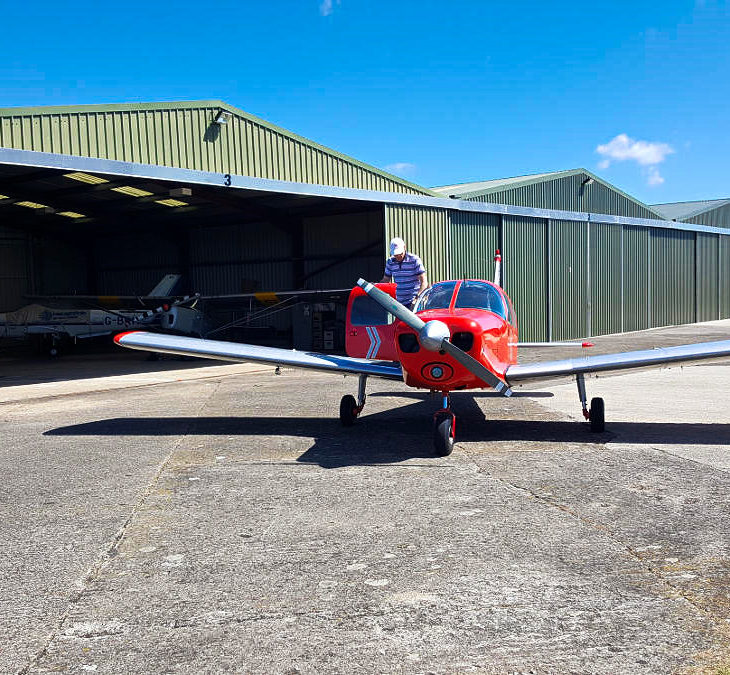 G-LTFB outside hangar 3 Strubby Airfield