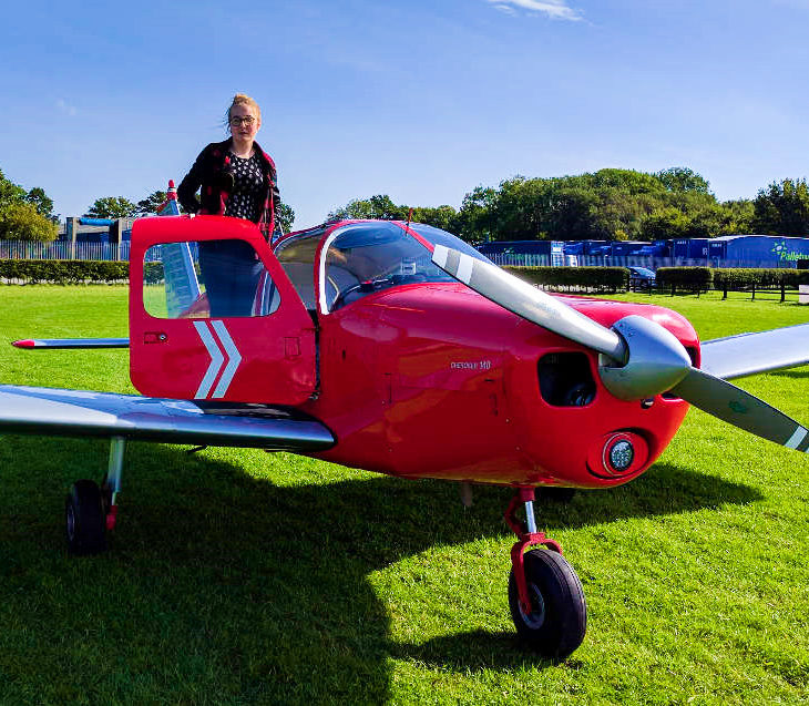 Hannah with G-LTFB at Wickeny Airfield