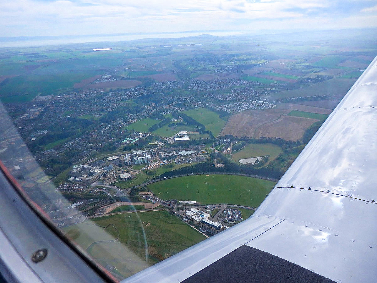 overhead St Andrews