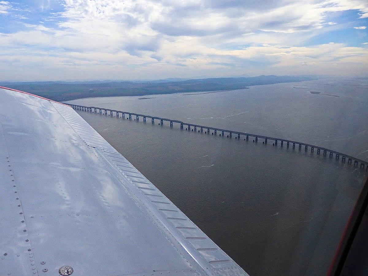 passing the Tay Railway Bridge