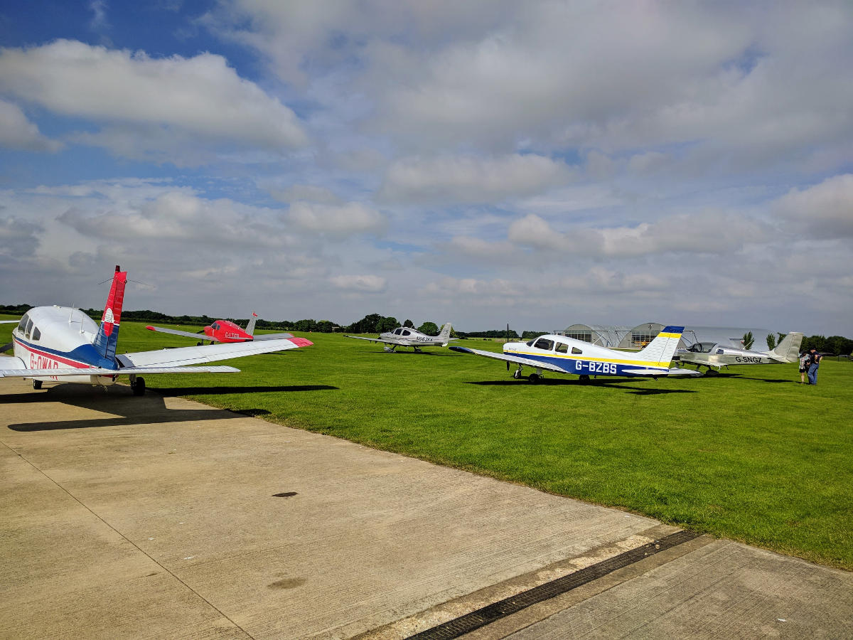G-LTFB at Sywell parking